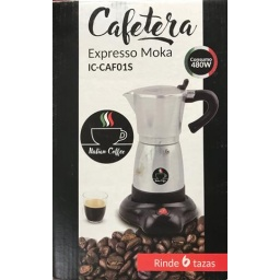 CAFETERA ITALIAN COFFEE PLATEADA CAF01S