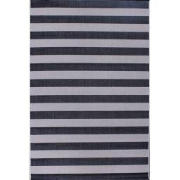 Alfombra Cottage Rayas Blanco Negro 60 x 180