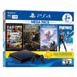 SONY PLAY STATION PS4 1 TB + FORTNITE - GTA5 - D GONE Y HORI