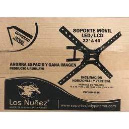 """SOPORTE PARA TV MOVIL DE 22"""" A  40 """"LOS NUÑEZ (cod 4036)"""