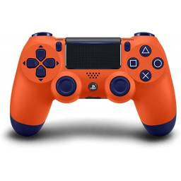 CONTROL ORIGINAL SONY PS 4 COLOR NARANJA Y AZUL