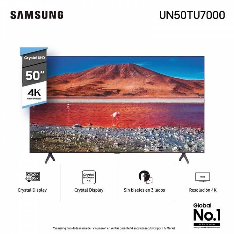 LED SMART TV UHD 4K SAMSUNG UN 50 TU7000