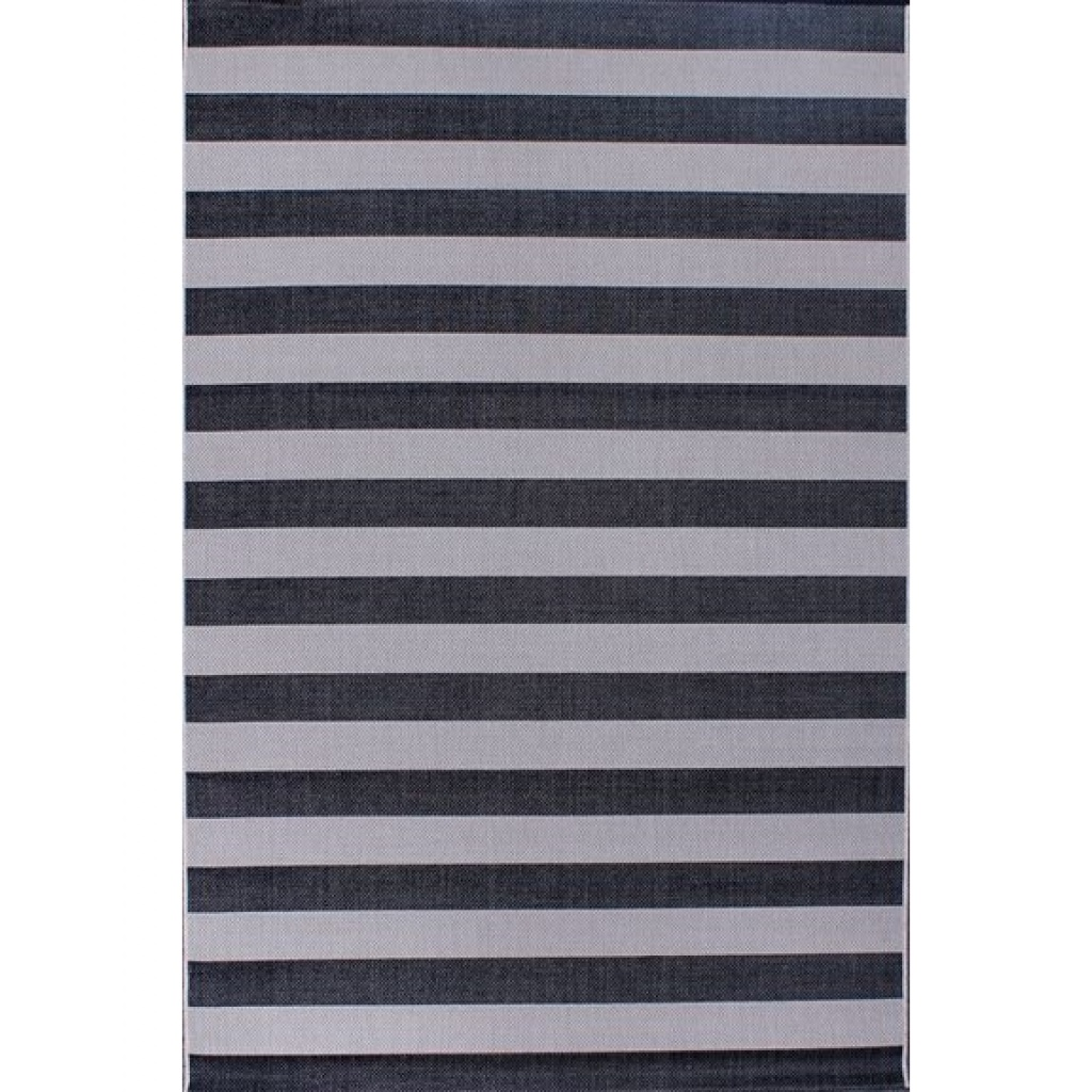 Alfombra Cottage Rayas Blanco Negro 60 X 180 Muebles Deco Alfombras Textil