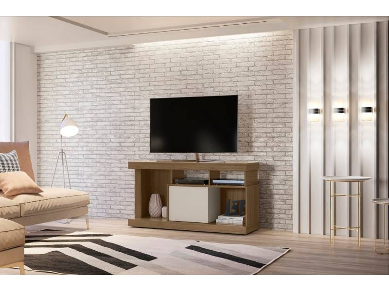RACK PARA TV QUARTZO AVELLANA BLANCO - 5439